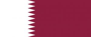 """Flag of Qatar"" von (of code) cs:User:-xfi- - Drawn by User:SKopp. Lizenziert unter Gemeinfrei über Wikimedia Commons - http://commons.wikimedia.org/wiki/File:Flag_of_Qatar.svg#mediaviewer/File:Flag_of_Qatar.svg"