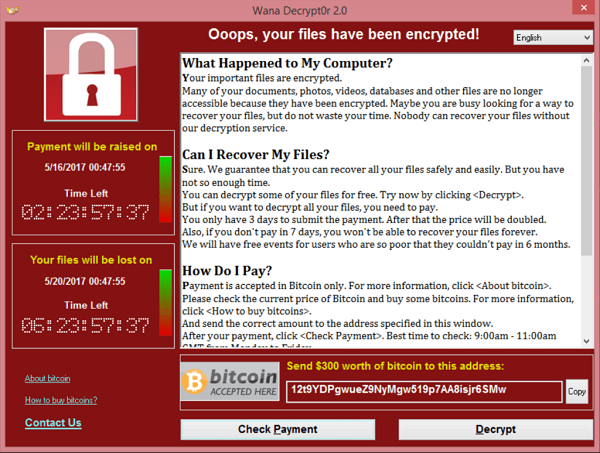 WannaCry Screenshot von Wikipedia